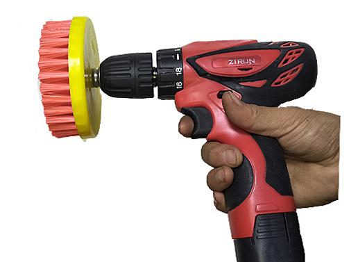 Drill-Powered Cleaning Brush