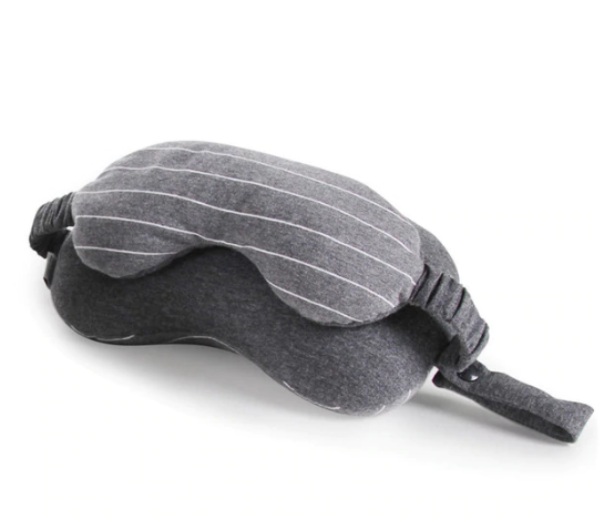 Travel Neck Pillow with Eye Mask 2-in-1