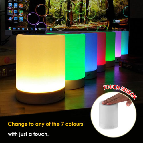 Portable LED Nightlight Touch Control Bluetooth Speaker