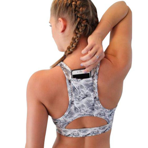 Best Sports Bra Padded with Back Pocket