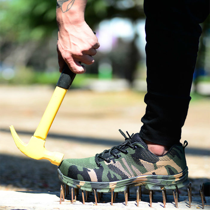 Men's Sneakers Steel Toe Safety Shoes