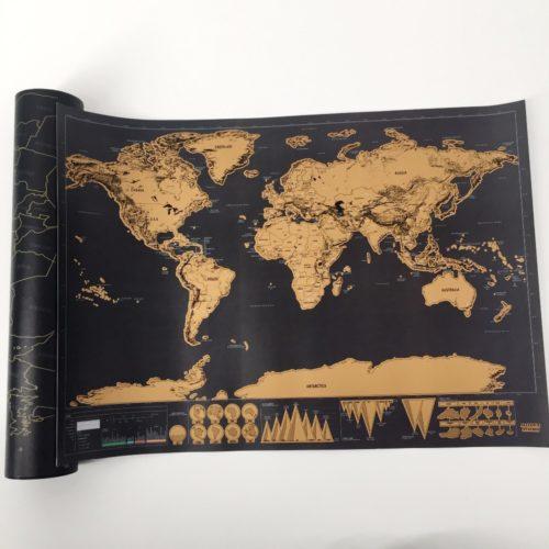 Scratch Off Map Home Decor World Map