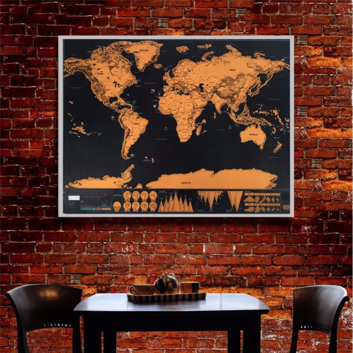 Scratch Off Map Home Decor World Map