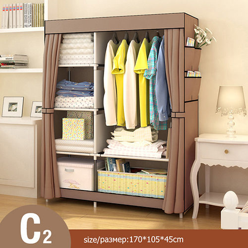 Non-Woven Folding Fabric Wardrobe Storage Organizer