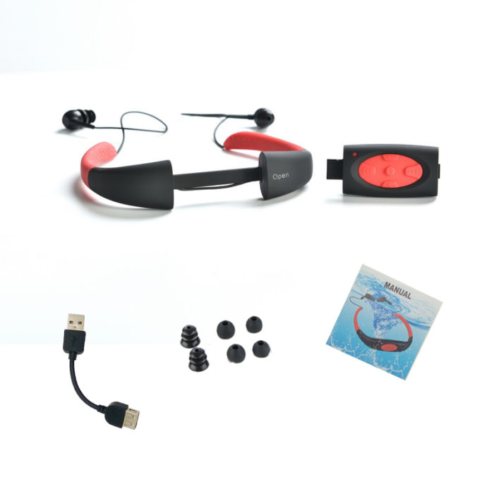 Waterproof MP3 Player Swimming Headphones