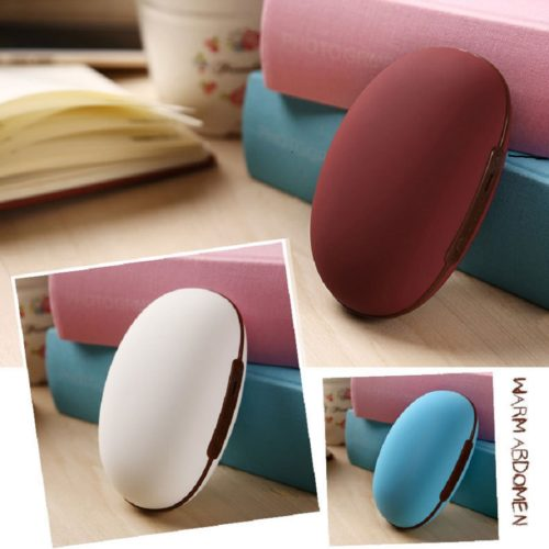 Hand Warmer Bean-Shape USB Power Bank 2in1