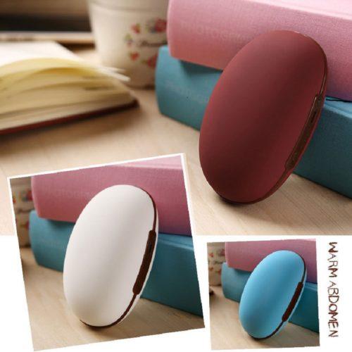 Hand Warmer Bean-Shape USB Power Bank 2in1