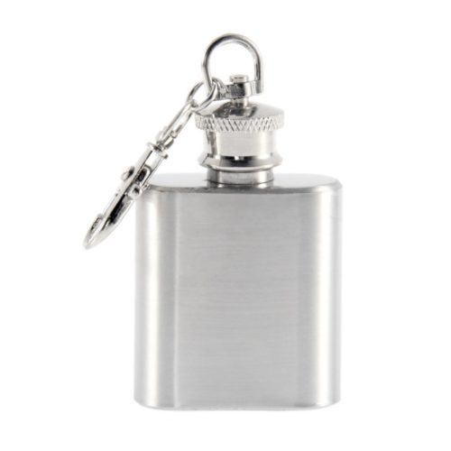 Small Flask Stainless Steel with Keycahin