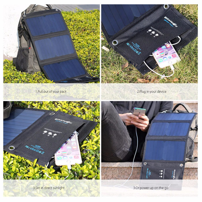 Solar Power Bank Universal Phone Charger