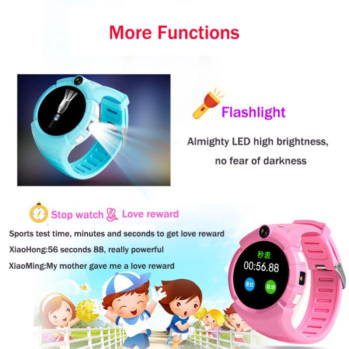 Kids Smartwatches WiFi GPS Tracker with Camera