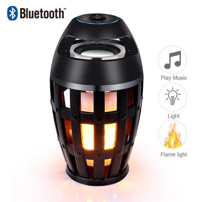 Wireless Outdoor Speaker LED Flame Design
