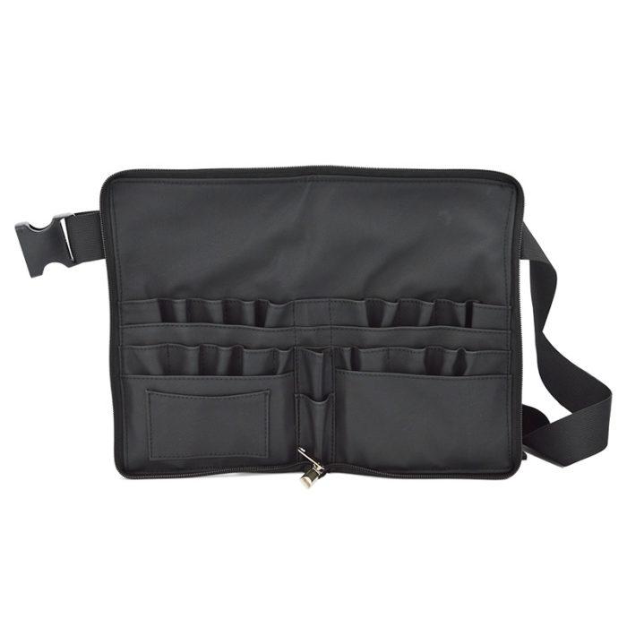 Makeup Brush Belt Leather Makeup Holder Organizer Bag 2in1