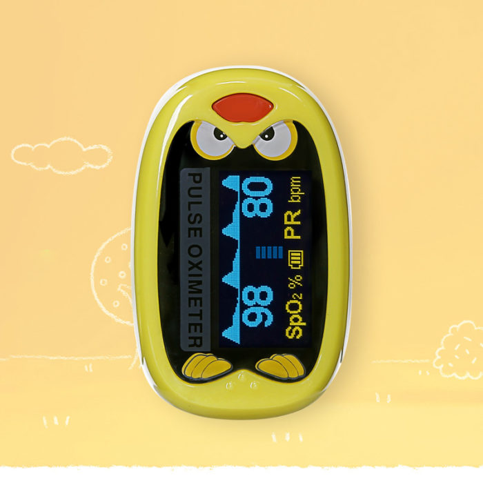 Pulse Oximeter Children Medical Device Rechargeable