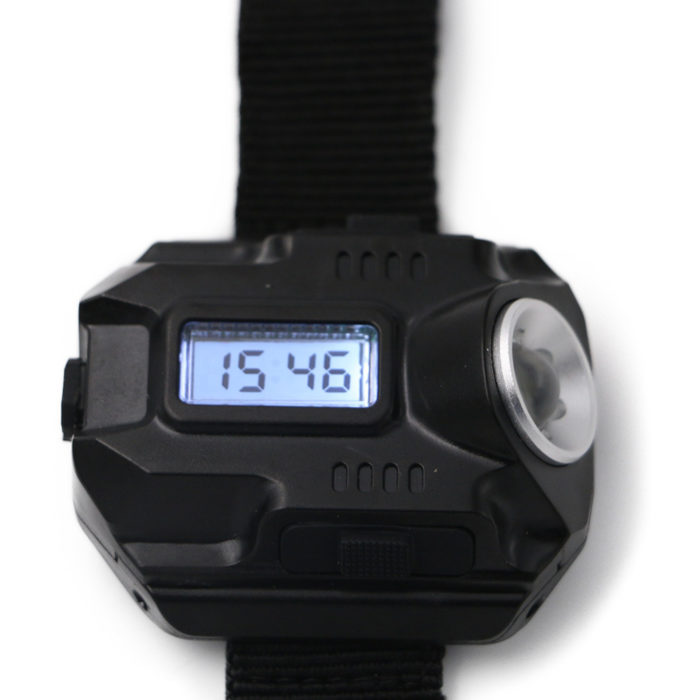 LED Digital Flashlight Watch Rechargeable