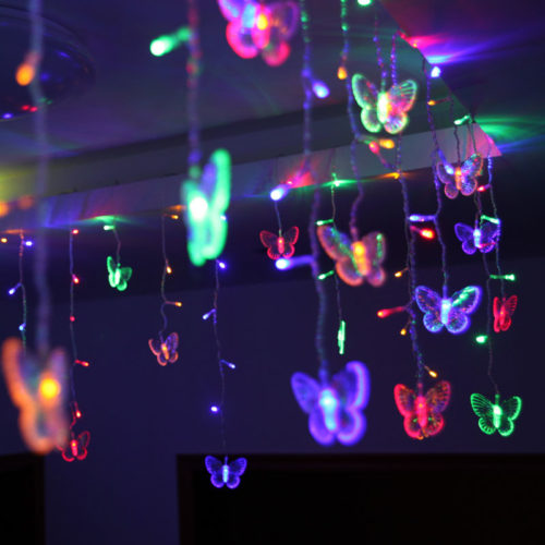 48 Butterfly LED String Lights Decor
