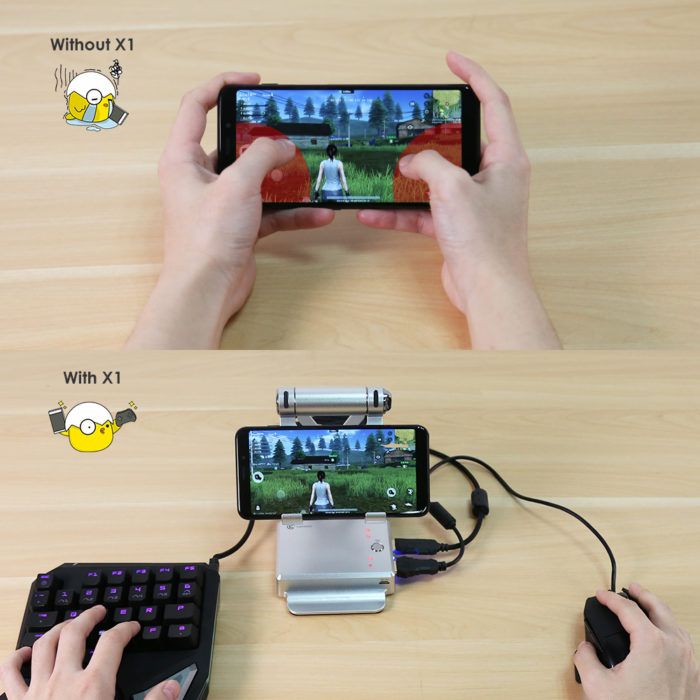 Mobile Gaming Accessories Battle Dock Keyboard and Mouse Converter
