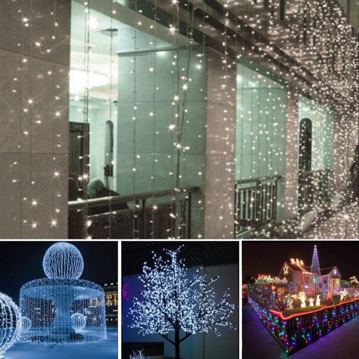 10m LED String Lights Solar Powered Outdoor Hanging Lights