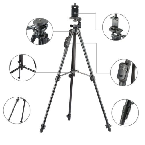 3-Way Aluminum Bluetooth Tripod Stand