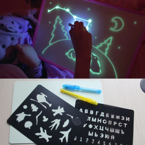 Kids Magic Night Light Drawing Board