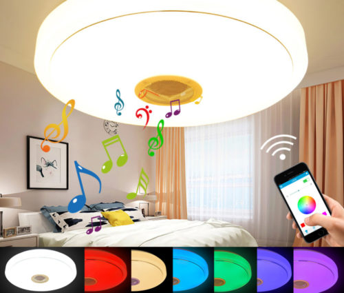 LED Lamp Bluetooth Ceiling Speakers