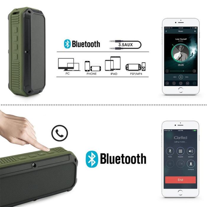 Waterproof Bluetooth 4.0 Portable Speakers