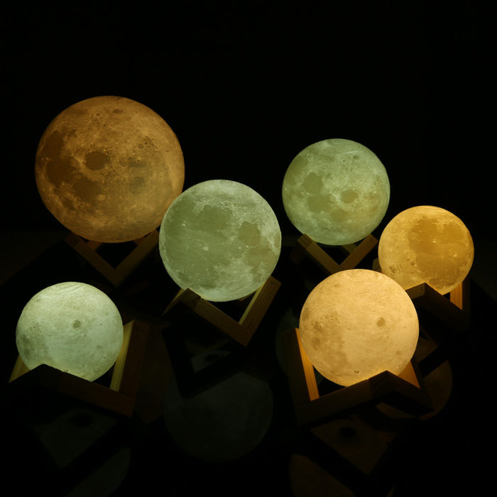 Rechargeable 3D Moon Night Lamp