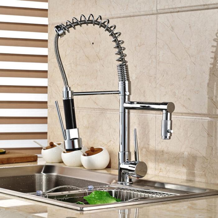 Dual Spout Kitchen Sink Faucet