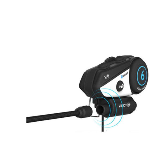 2-Way Radio Bluetooth Motorcycle Helmet Headset