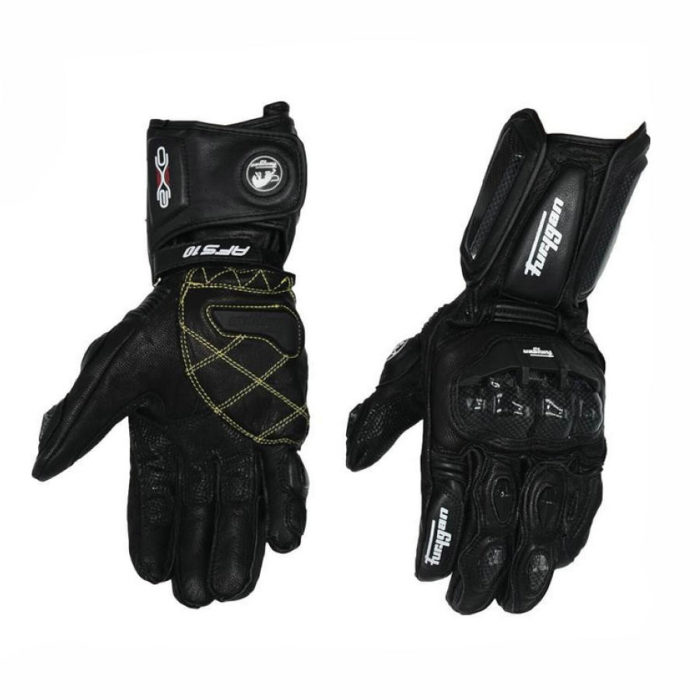 Carbon Fiber Motorcycle Leather Gloves
