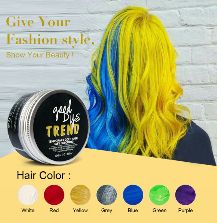Washable Color Hair Styling Wax