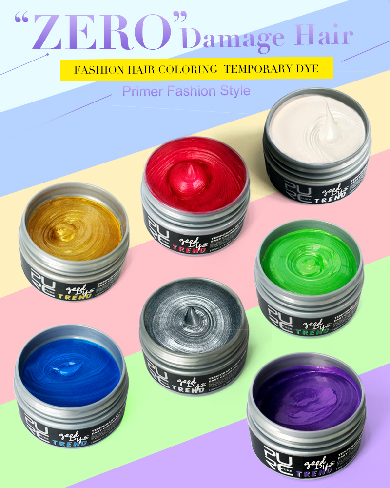 hair wax styling products washable color hair styling wax changing products 4869