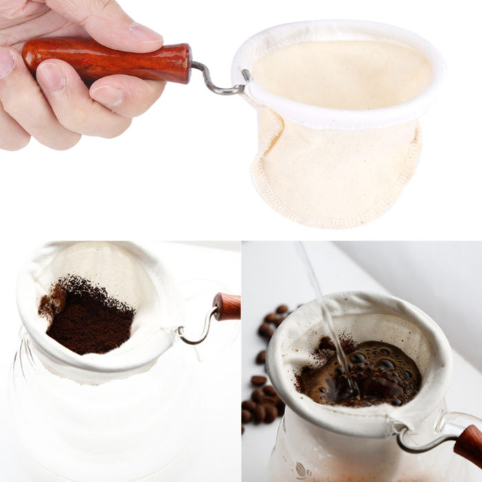 Reusable Coffee Filter with Wood Handle
