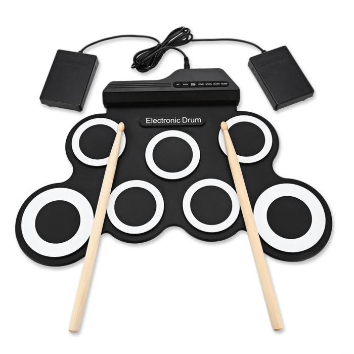 Portable Digital Silicon Drum Pads