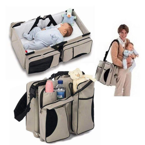 2-in-1 Portable Collapsible Baby Crib and Diaper Bag