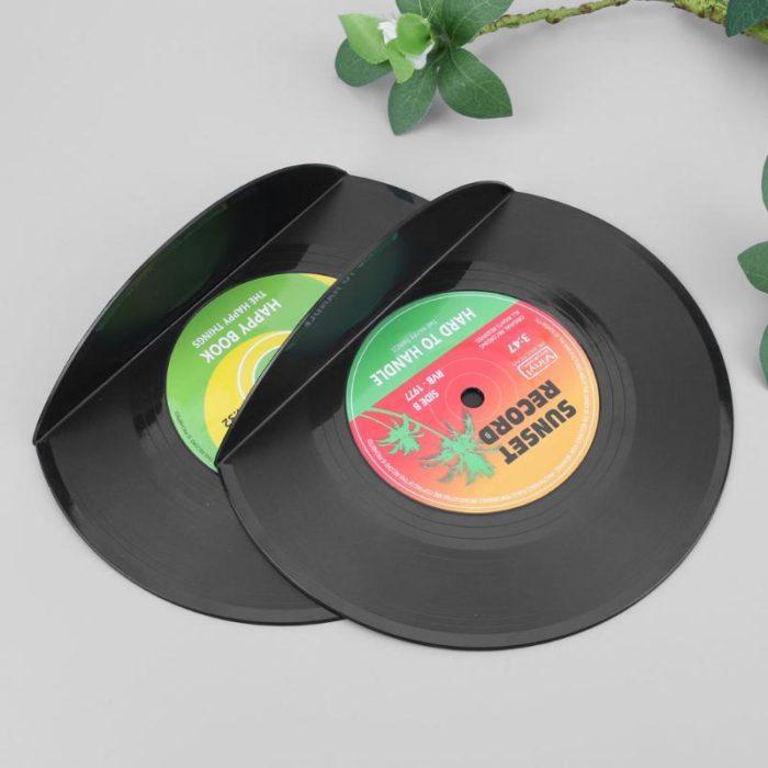 2-Piece Vinyl Record Bookends
