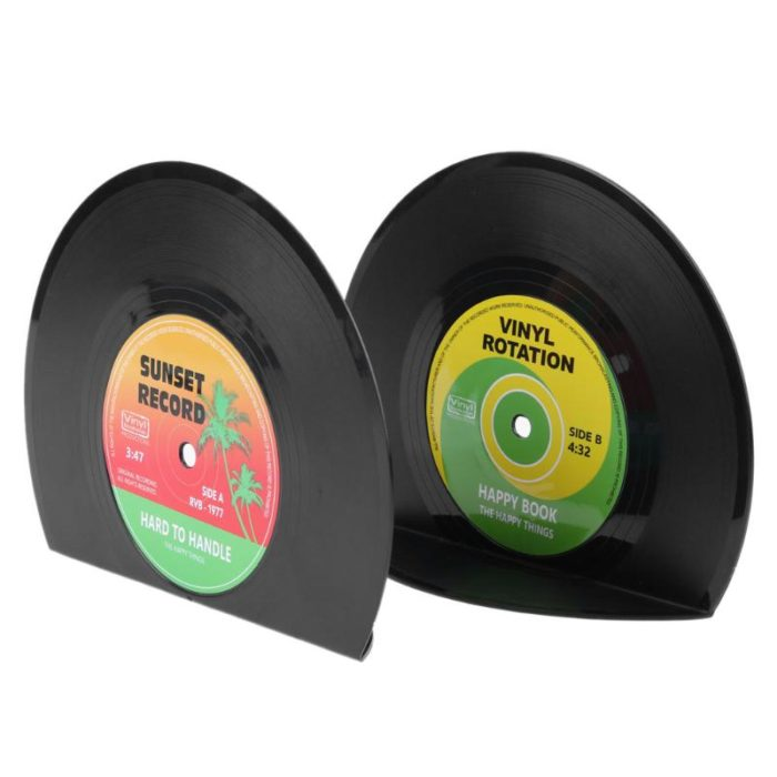 2-Piece Vinyl Record Bookends