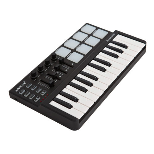 Portable USB Keyboard and Drum Pad MIDI Controller