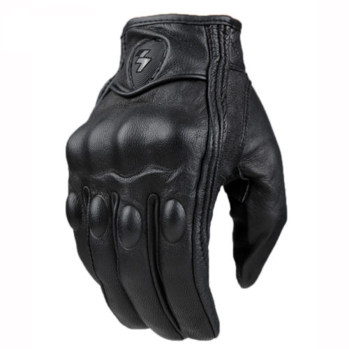 Leather Motorcycle Gloves for Bike Riding