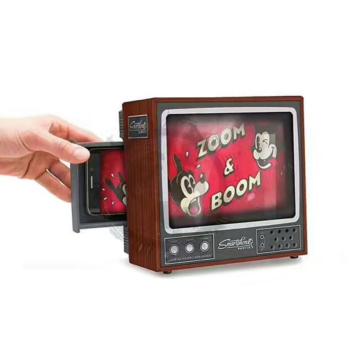 DIY Cardboard Classical TV Set Style Smartphone Screen Magnifier