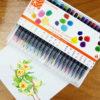 20-Color Watercolor Brush Pen Set
