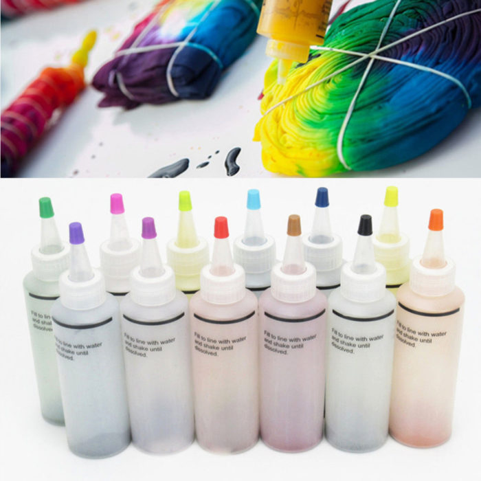 12-Bottle One-Step Tie Dye Kit