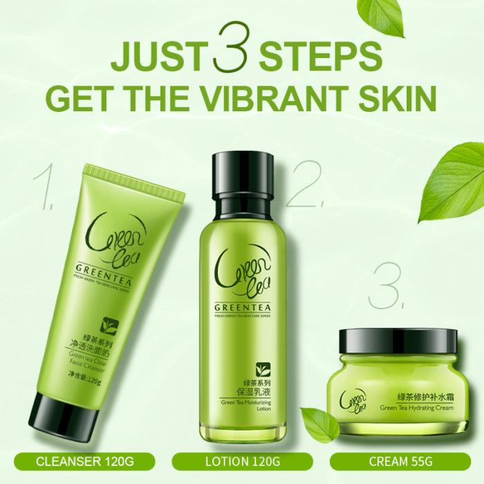 Green Tea Facial Skin Care Set