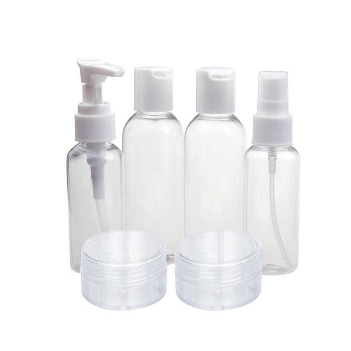 Transparent Travel Size Toiletry Bottle Set