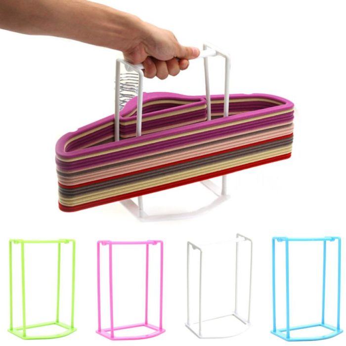 ClothesClothes Hanger Organizer Rack Hanger Storage Rack