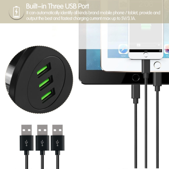 3-USB Desktop Charger