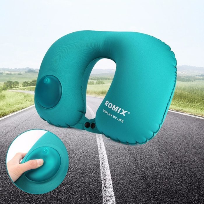U-Shaped Inflatable Travel Pillow