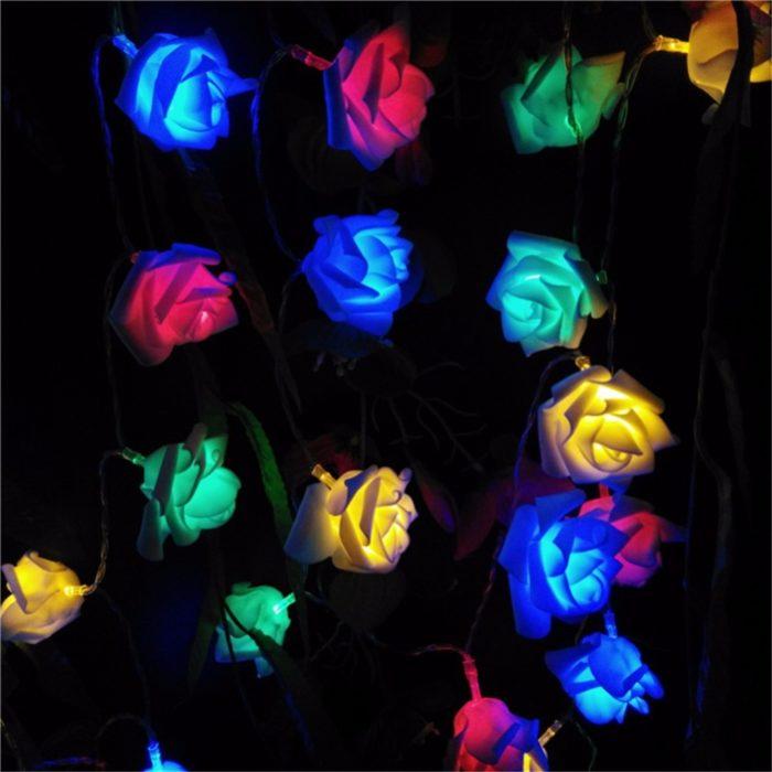 LED Rose String Lights