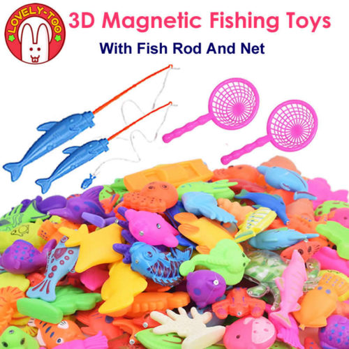 3D Magnetic Fishing Games Toy Set