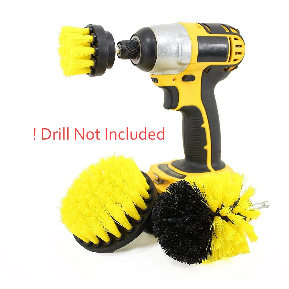 Drill Brush Scrubber Cleaning Kit Set Of 3 Life