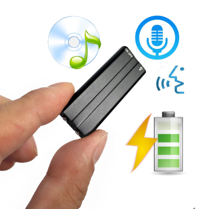 8gb Mini Voice Activated Recorder MP3 Player